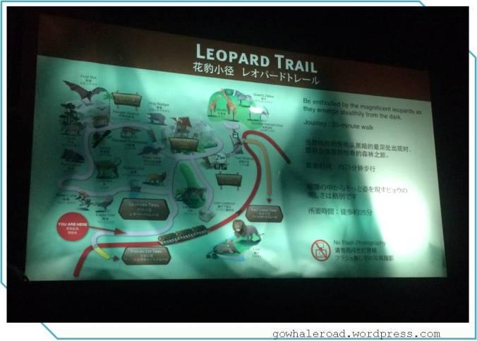 有仔細的遊園地圖,可以依照個人體力和時間走走